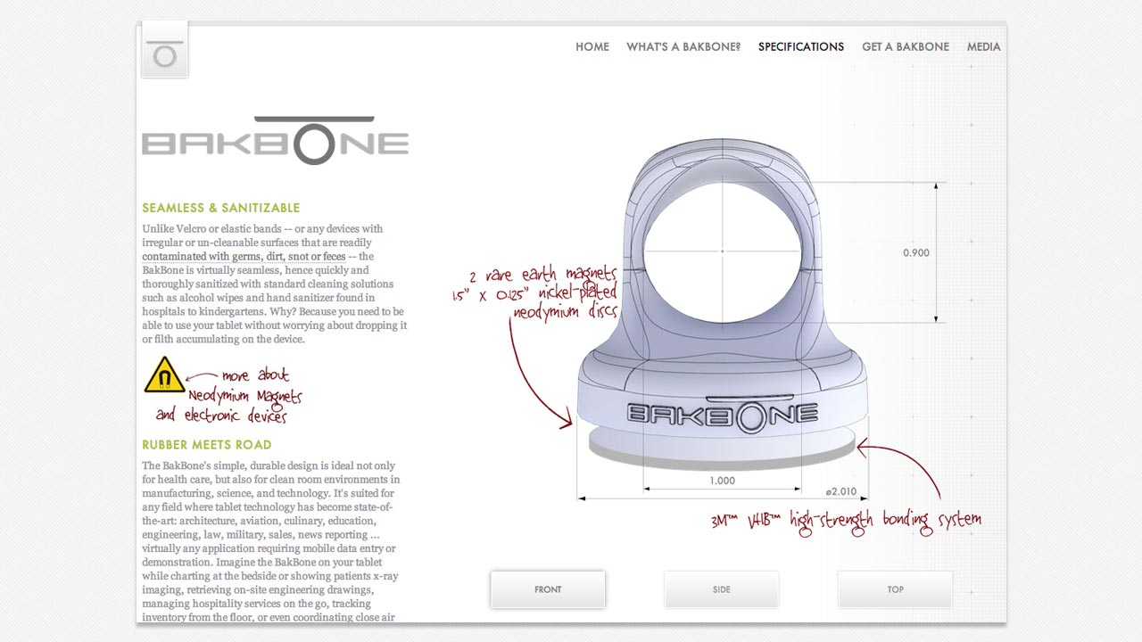 www.thebakbone.com product detail page