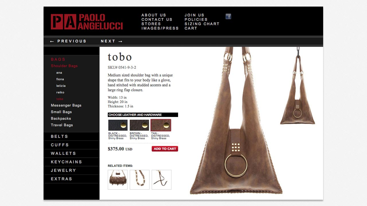 www.paoloangelucci.com product browser